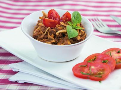spaghetti-à-la-bolognaise-épicée-végétarien